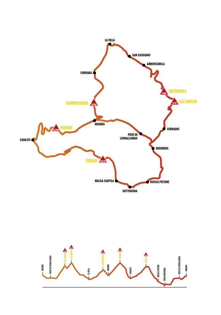 percorso dolomiti bike day