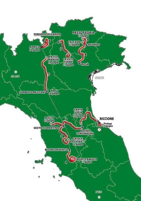 Calendario Giro D Italia.Giro D Italia Under 23 Calendario E Altimetrie Mondo Ciclismo